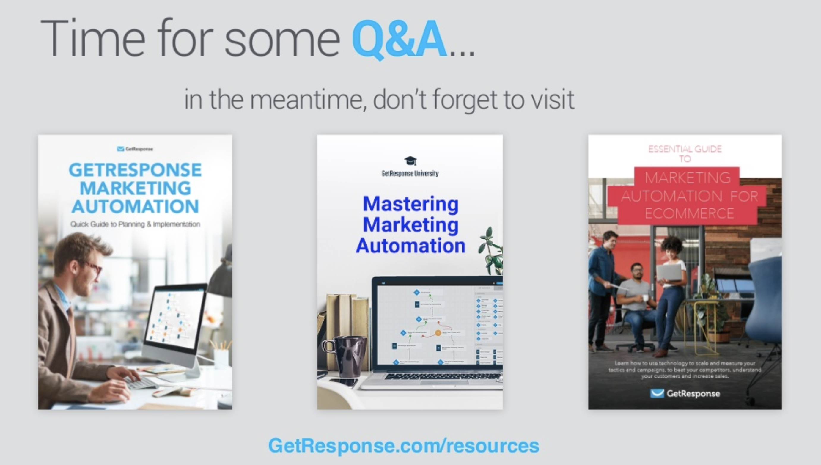 Image showing how we promoted our ebooks during a webinar.