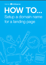 Setting up a domain name for a landing page