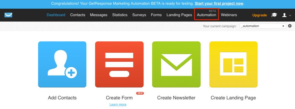 Marketing automation BETA
