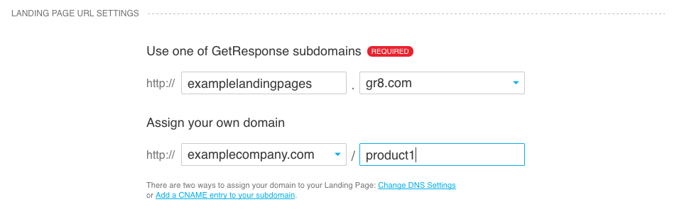 domain name with a directory assigned