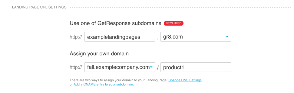 subdomain, domain and directory used