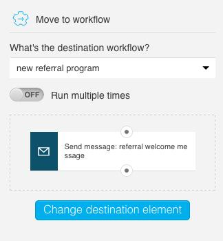 Change destination element option