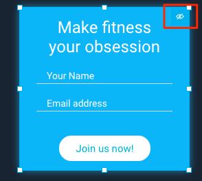 visibility icon shown
