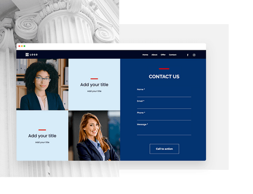 use integrated contact forms with website builder
