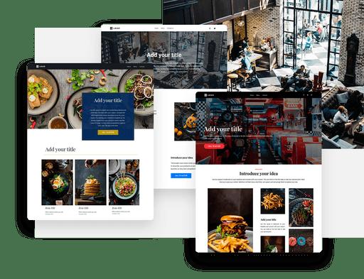Restaurant website builder templates and websites
