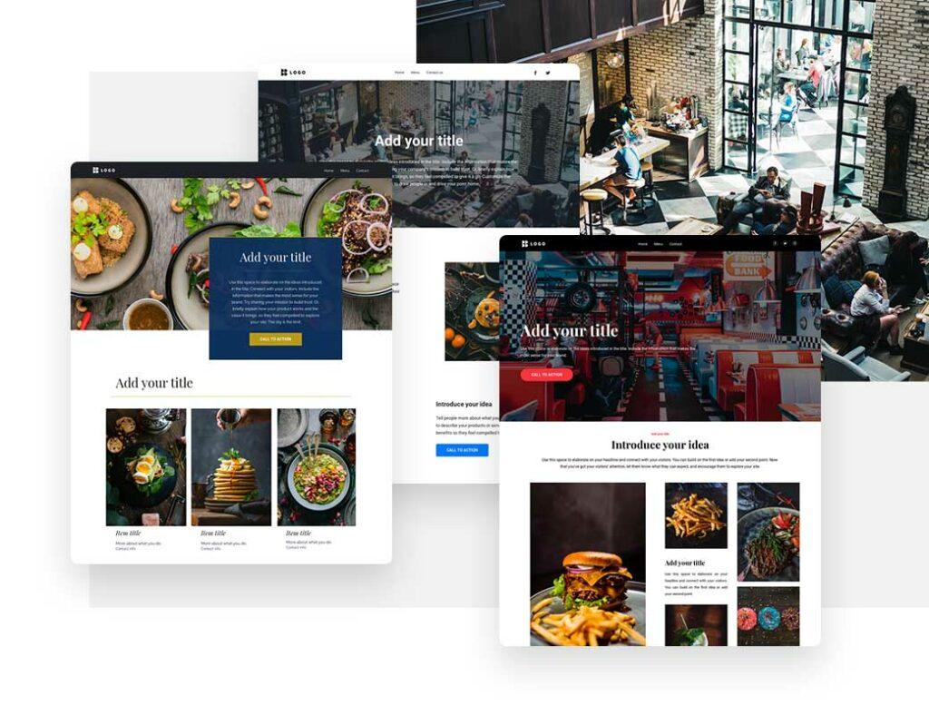 Примеры шаблонов сайта для ресторанов или кафе с меню