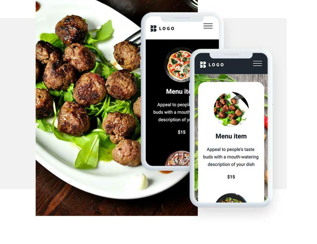 Мясное блюдо с возможностью заказать онлайн в ресторане или кафе