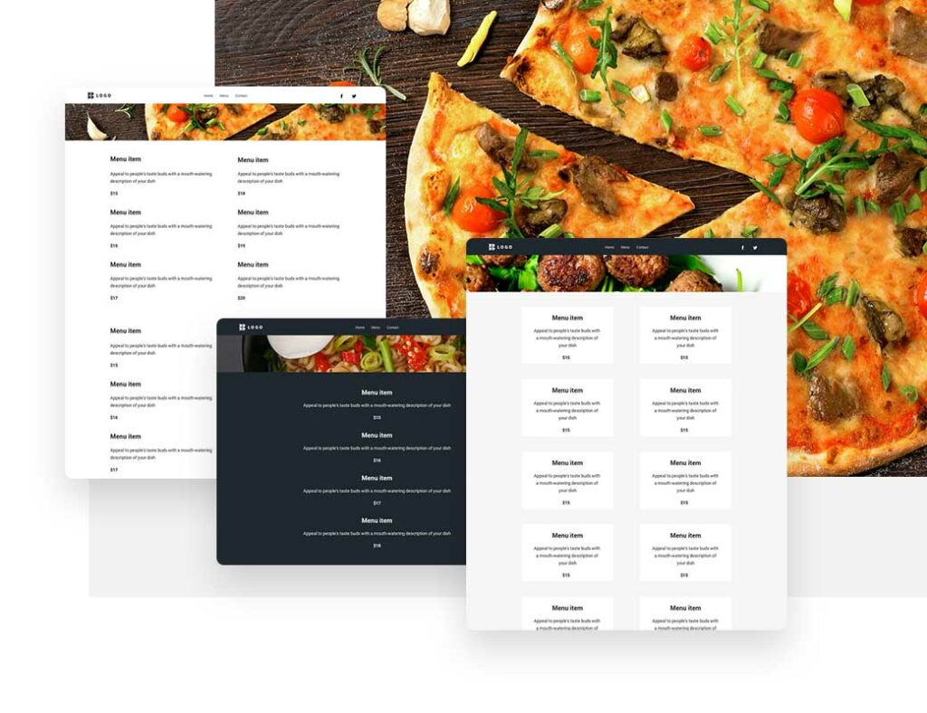 Пицца в ресторане или кафе, которую можно заказать онлайн