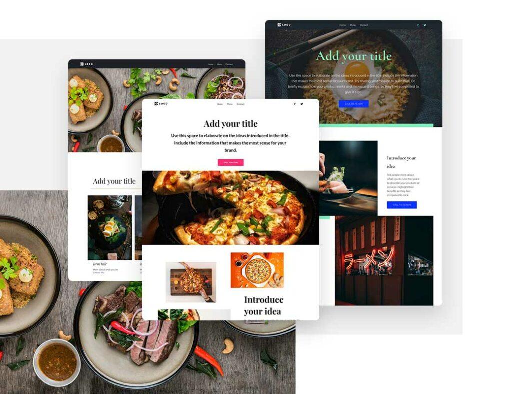 Шаблоны сайта для кафе или ресторана, которые можно создать с помощью конструктора
