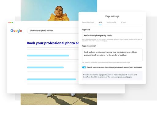 develop online presence through website