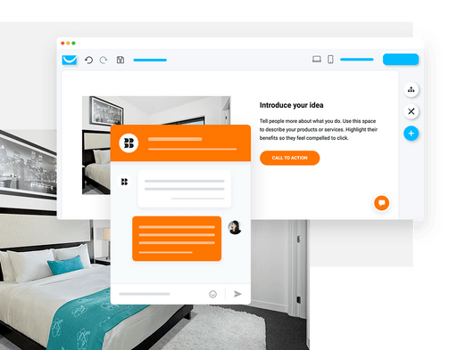 live chat documentation with GetResponse website builder