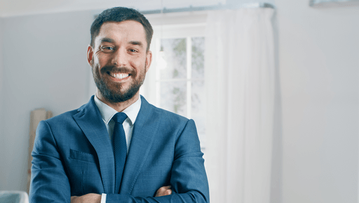 happy real estate agent