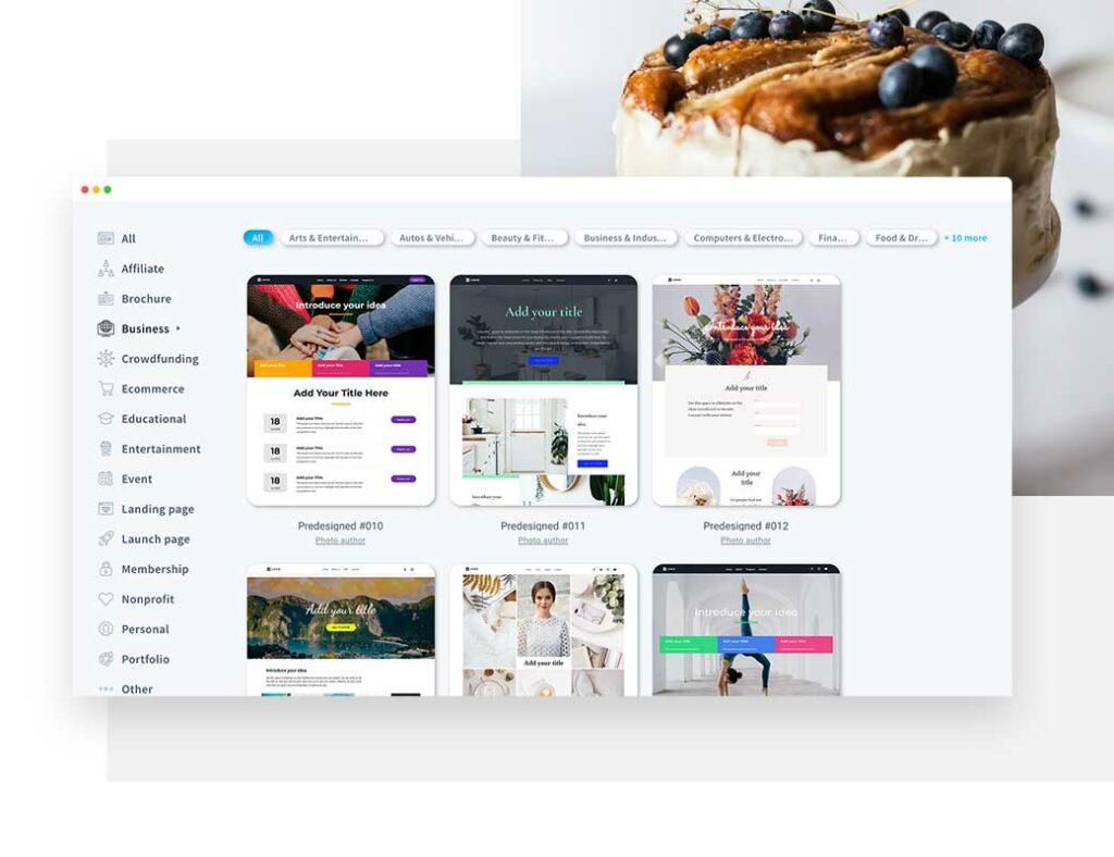Разные шаблоны сайта для малого и среднего бизнеса