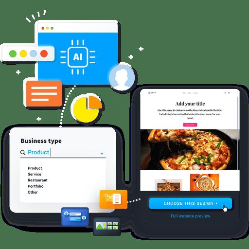 Erstelle deine Restaurant-Seite mithilfe der KI
