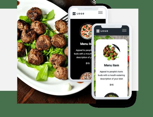 Szablony mobilne strony restauracji