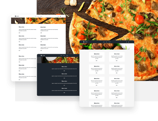 Menu restauracji online