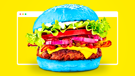 GetResponse-styled burger for restaurant website builder